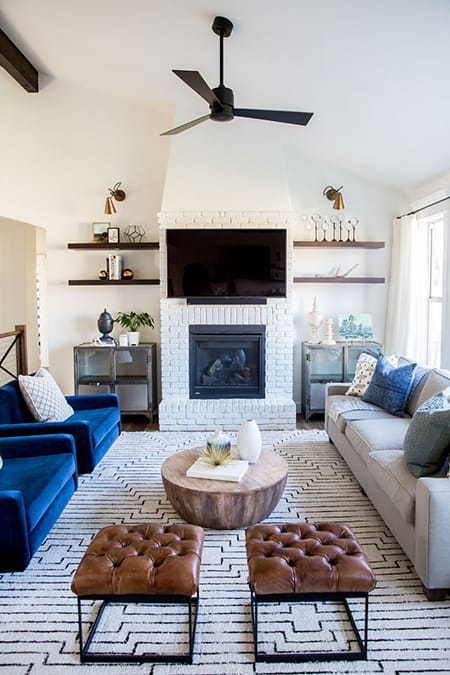 10 Rooms That Show the Stylish Impact of a White Brick Fireplace | HomeandEventStyling.com