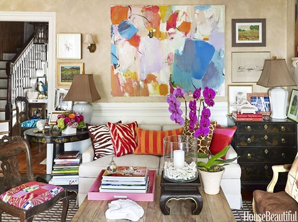 10 Chic and Colorful Living Room Ideas | HomeandEventStyling.com