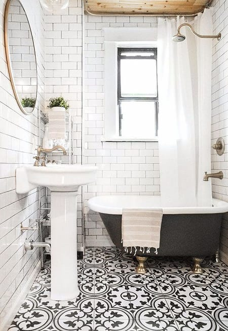 Making a Big Impact in a Small Bathroom | HomeandEventStyling.com