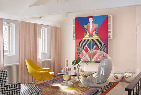 Home Tour: Minna Parikka's Fun and Colorful Home | HomeandEventStyling.com