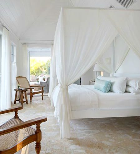 Creating a Dreamy Bedroom with a Mosquito Net Canopy | HomeandEventStyling.com