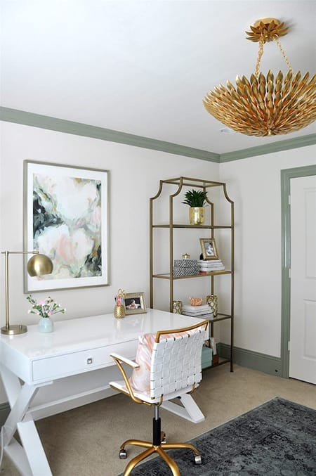 Clean and Chic White Home Office Inspiration   HomeandEventStyling.com