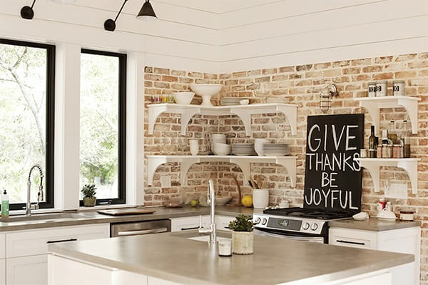 10 Charming Kitchens with Exposed Brick | HomeandEventStyling.com