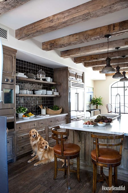 10 Charming Kitchens with Wood Beams | HomeandEventStyling.com