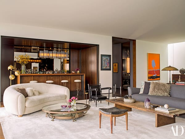 Home Tour: Jennifer Aniston and Justin Theroux's Midcentury Modern Home | HomeandEventStyling.com