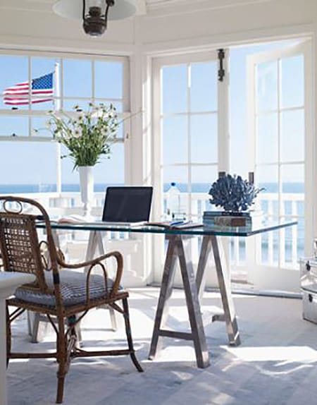 10 Coastal Home Offices That Will Keep You Inspired by the Sea | HomeandEventStyling.com