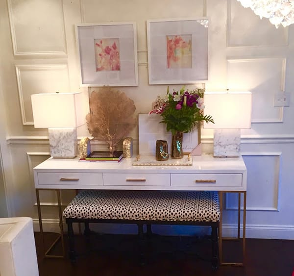 What to Hang Over a Console Table Vignette | HomeandEventStyling.com