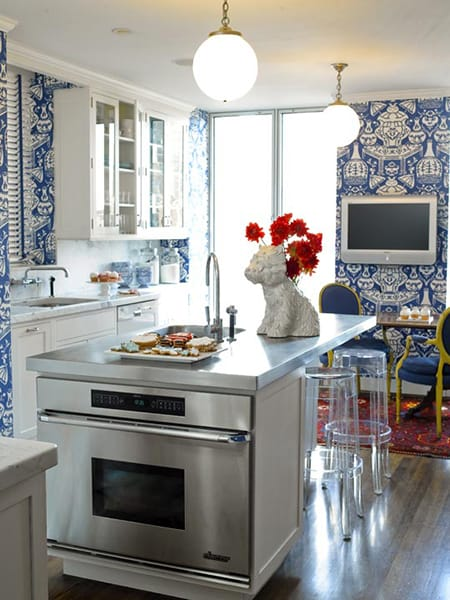 Mixing It Up In Your Kitchen with Wallpaper | HomeandEventStyling.com