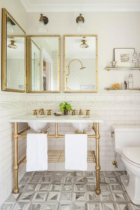 10 Chic Bathrooms with Metallic Vanities | HomeandEventStyling.com