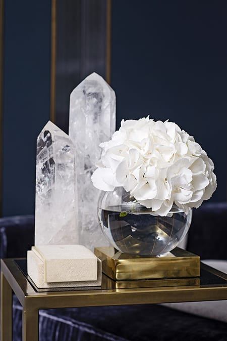 Decorating with Crystals for a Glamorous, Natural Look | HomeandEventStyling.com