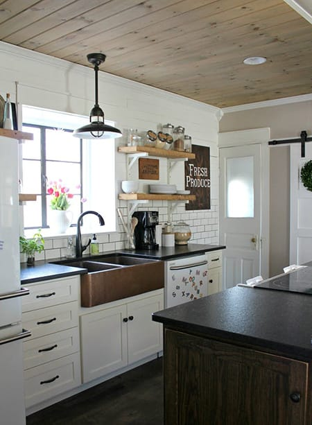 Changing It Up In a Kitchen or Bathroom with a Dark Sink | HomeandEventStyling.com