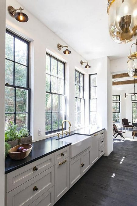 The Upscale Look of Black Windows | HomeandEventStyling.com