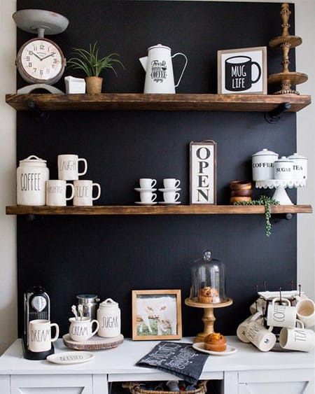 10 Charming and Creative Coffee Bar Ideas | HomeandEventStyling.com