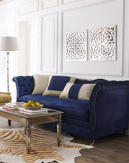 The Chic, Classic Glamour of Navy Blue and Gold | HomeandEventStyling.com
