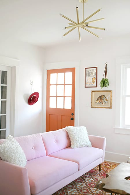10 Chic Spaces with a Pink Sofa | HomeandEventStyling.com