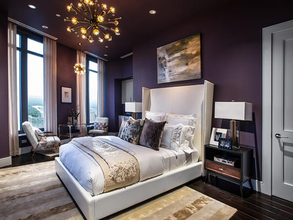 Bringing Elegance and Luxury to a Bedroom with Purple | HomeandEventStyling.com