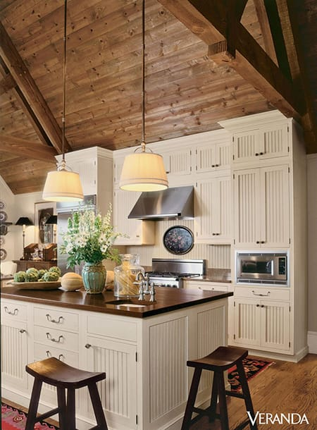 10 Beautiful and Inspiring Non-White Farmhouse Kitchens | HomeandEventStyling.com