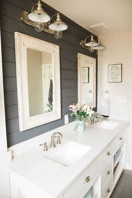 10 Charming Bathrooms with Shiplap Walls | HomeandEventStyling.com