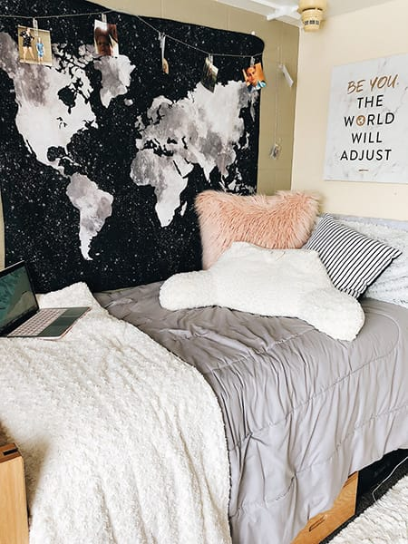 10 Stylish Dorm Room Ideas for Girls | HomeandEventStyling.com