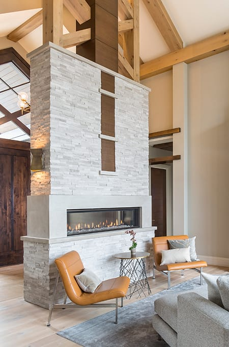 Adding Warmth and Style to a Space with a Modern Fireplace | HomeandEventStyling.com