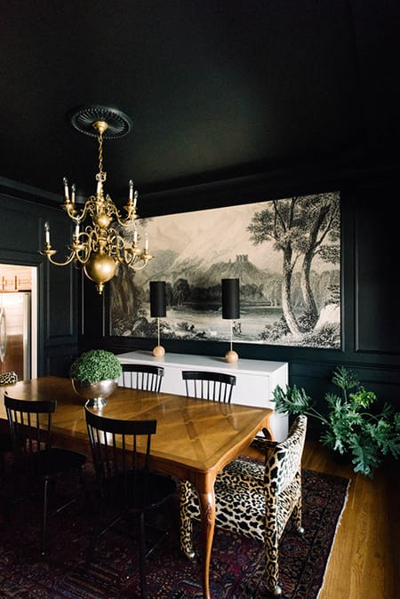 10 Super Chic Black and White Dining Rooms   MeganMorrisBlog.com