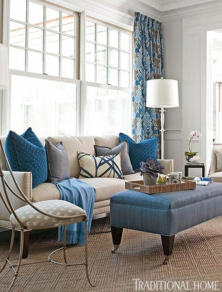 Living Rooms That Are Beautiful in Blue | MeganMorrisBlog.com