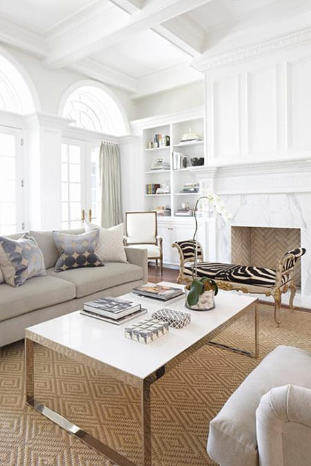 Going Glamorous with a Marble Fireplace | HomeandEventStyling.com