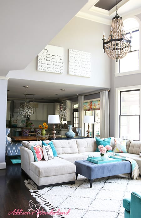 Making the Most of a Two-Story Living Room | MeganMorrisBlog.com