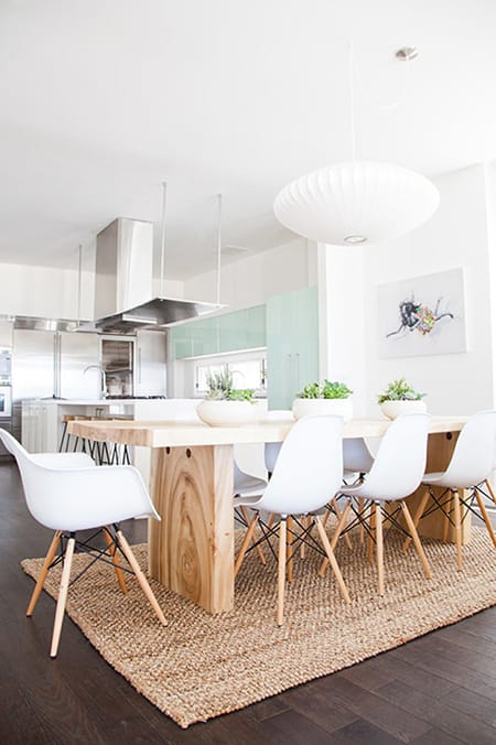 Making a Statement in a Dining Room with a Wood Table | HomeandEventStyling.com