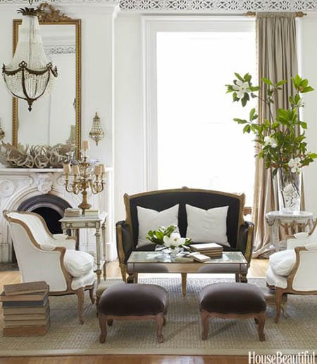 Chic and Charming Parisian Living Room Ideas | MeganMorrisBlog.com
