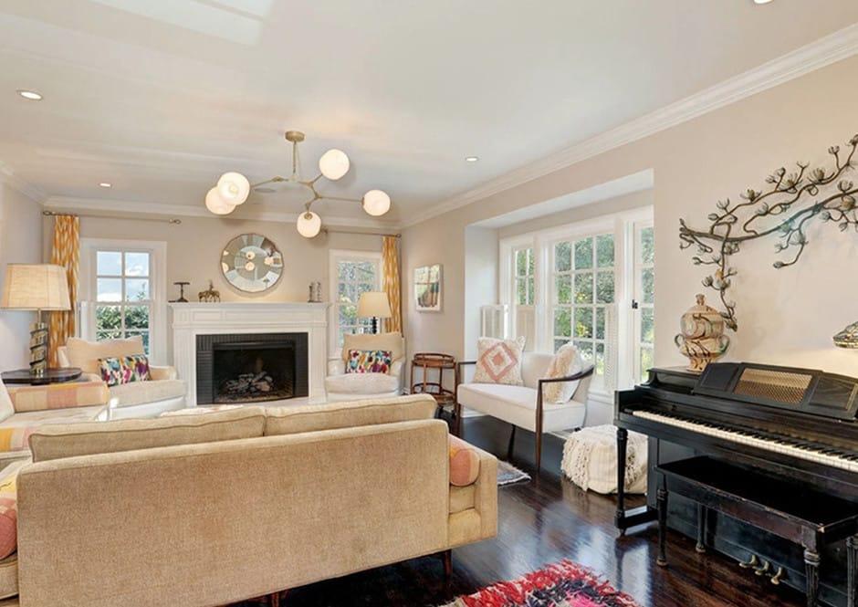 Living Room of Melissa McCarthy's Toluca Lake Home