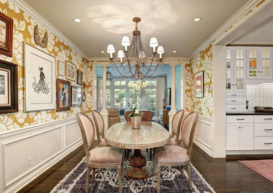 Dining Room of Melissa McCarthy's Toluca Lake Home