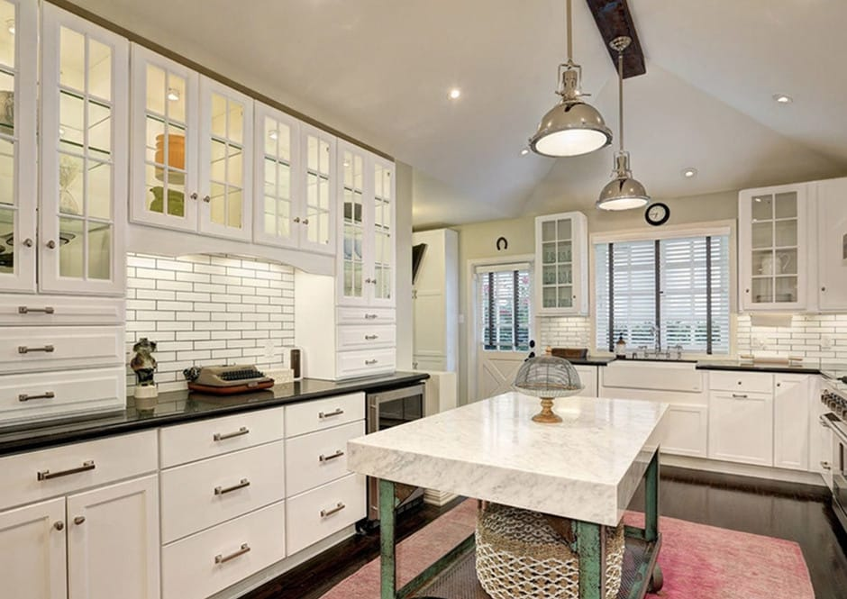 Kitchen in Melissa McCarthy's Toluca Lake Home