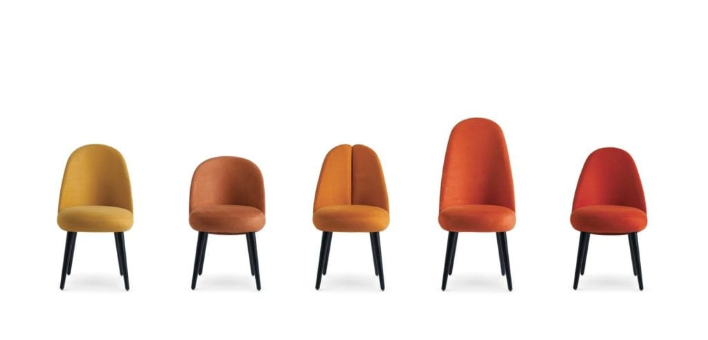 Organic modern Identities Chair collection from Roche Bobois designs