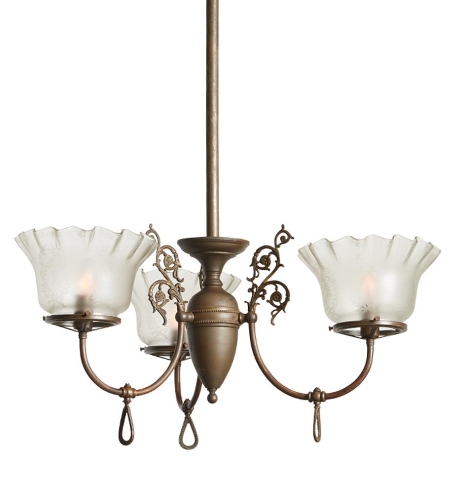 Example of antique statement lighting: a bronze Victorian chandelier