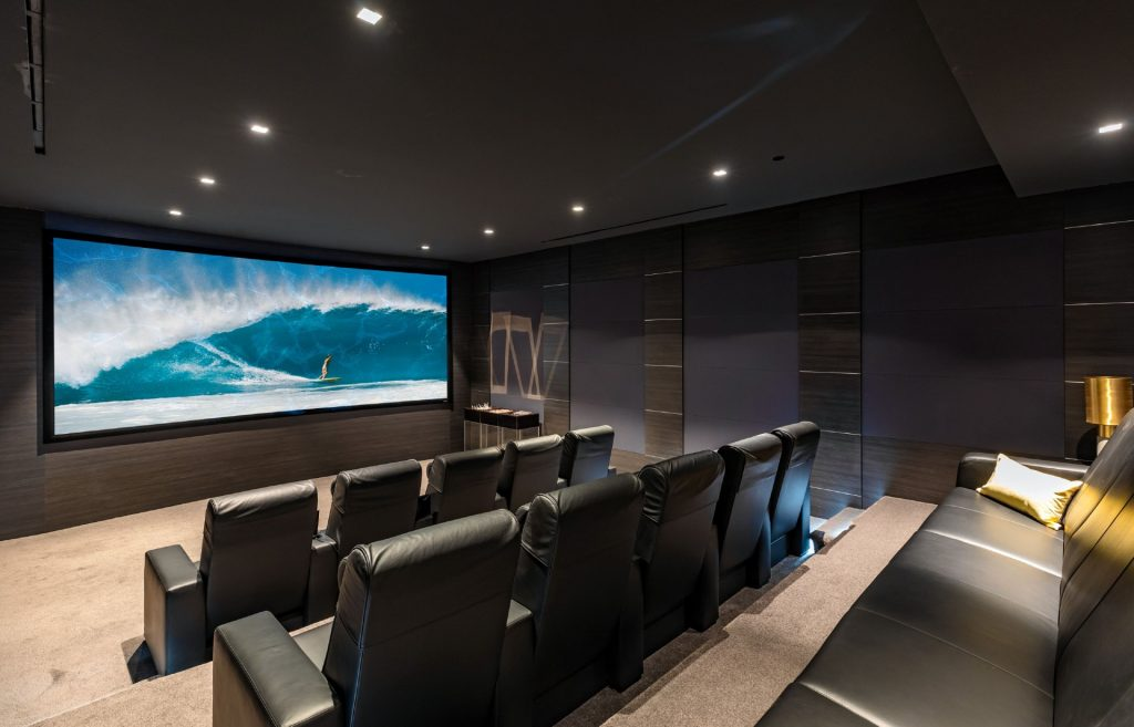 Home theater inside 1175 Hillcrest Road