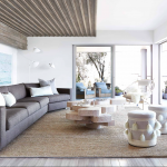 Example of biophilic design, a trend for Spring 2020, in a modern living room