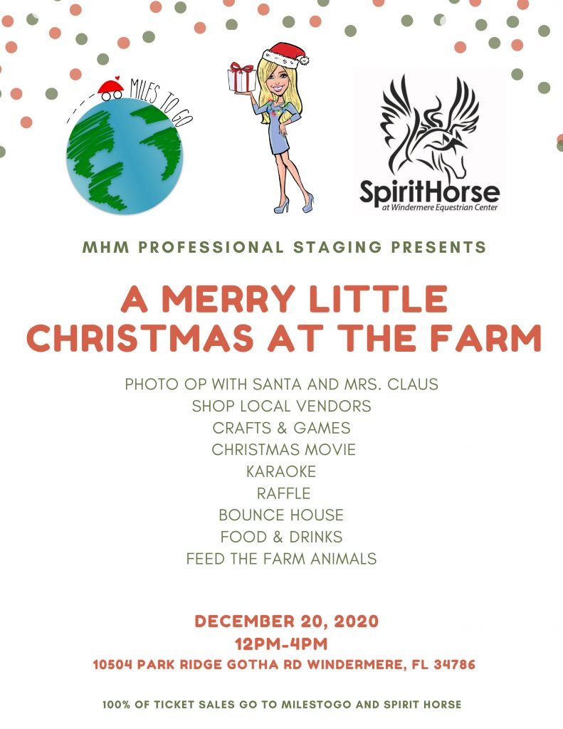 Flyer for the Merry Little Christmas at the Farm event
