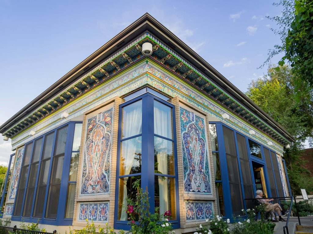 The exterior of Boulder Dunshabe Teahouse in Boulder, CO.