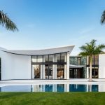 An exterior of a beautiful Miami estate.